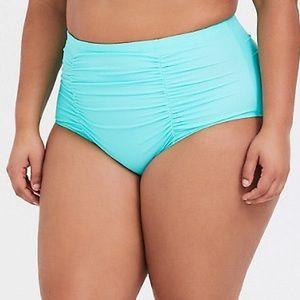 TORRID aqua green blue bikini bottoms, 1X.